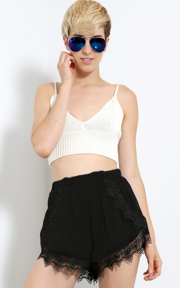 Take Me Back Knit Crop Top | MakeMeChic.com