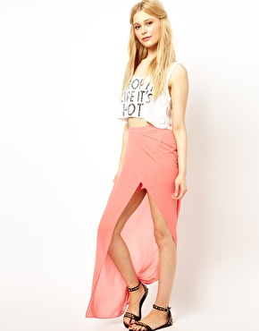 Jovonnista | Jovonnista Wrap Detail Maxi Skirt at ASOS