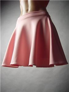 Romantic pastel blush pink retro flared vtg y full skater mini 38 mv skirt s m l