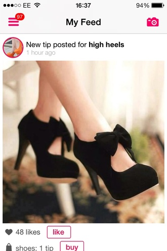 shoes black bows heels black heels with ankle bow black heels bow heels bow girly cute bows for straps black high heels mary jane high heels