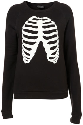 Skeleton Glow Sweatshirt - Jersey Tops  - Clothing  - Topshop