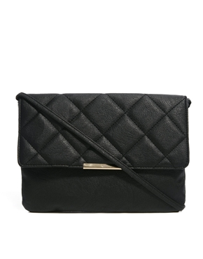 ASOS | ASOS Clutch Bag With Oversized Quilted Flap at ASOS