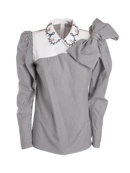 VIVETTA blouse white black top