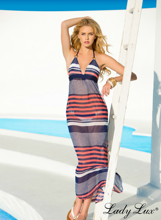 bikini cover up luxury cover up nautical maxi dress striped maxi dress stripes cover up striped dress luxury swimwear designer swimwear lady lux