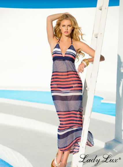 stripes striped dress bikini cover up beach cover up luxury cover up nautical maxi dress striped maxi dress cover up