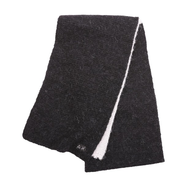 Sun 68 scarf wool black grey