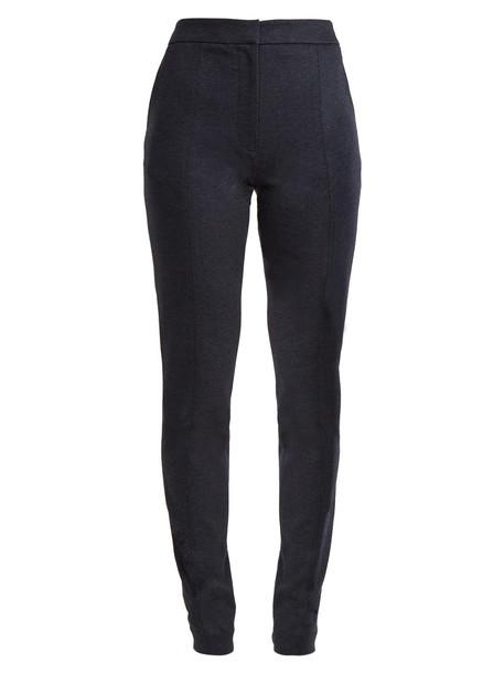 Tibi zip navy pants