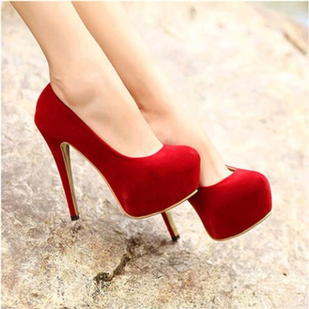 Shoes: red, burgundy, high heels, stilettos, girly, elegant ...
