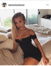 dress,tammy hembrow,black,black dress,little black dress,short sleeve dress,short sleeve,bardot dress,off the shoulder,off the shoulder dress,bodycon,bodycon dress,party dress,sexy party dresses,sexy,sexy dress,party outfits,sexy outfit,summer dress,summer outfits,spring dress,spring outfits,summer holidays,celebrity style,celebstyle for less,cute dress,girly dress,date outfit,birthday dress,clubwear,club dress,graduation dress,homecoming,homecoming dress,wedding clothes,wedding guest,engagement party dress,prom,prom dress,short prom dress,black prom dress,roamntic dress,romantic dress,romantic summer dress,mini dress