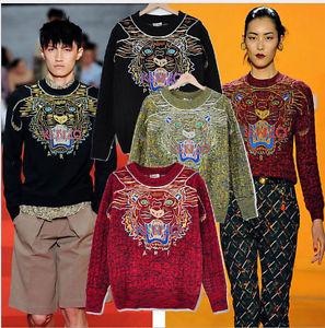 Hip Hop Ke Woman Star Tiger Sweater Knit Coat Top Embroidery Sweaters Fashion   eBay
