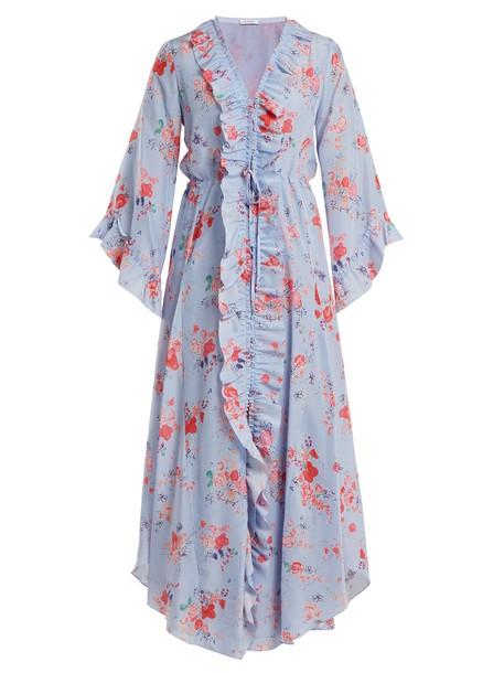 Vilshenko dress silk blue
