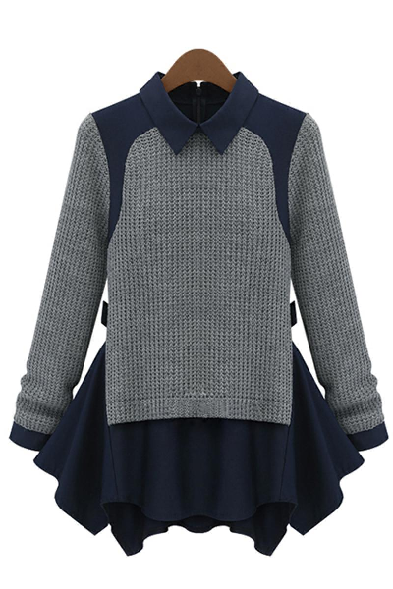 New Western Fashion Turtleneck  Hem Stitching Bottoming Sweater,Cheap in Wendybox.com