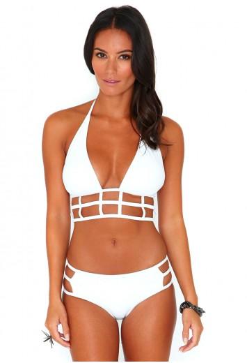 Marquise Halterneck Caged Bikini - swimwear - missguided | Ireland