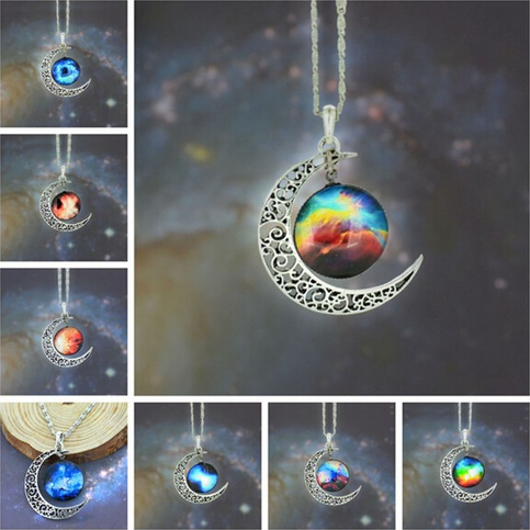 Galaxy moon necklace · ha