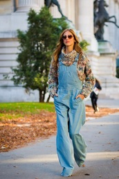 jeans,denim overalls,dungarees,sweater,turtleneck,turtleneck sweater,knit,overalls,chiara ferragni,multicolor,knitted sweater