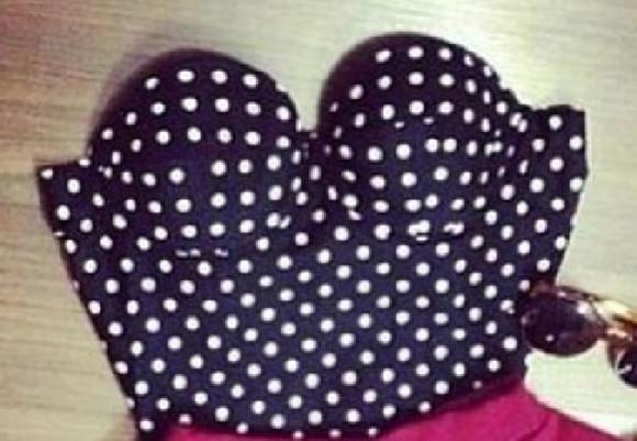 crop tops black polka dots polka dot bustier bustier bikini bustier swim sexy sexy lingerie