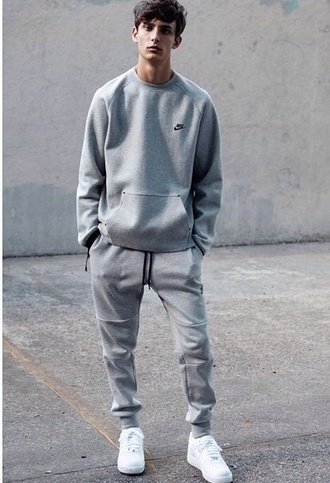 pants grey nike nike running shoes nike air nike sneakers nike air force 1 nike sweater joggers sweatpants grey sweatpants sportswear menswear mens sportswear holiday gift
