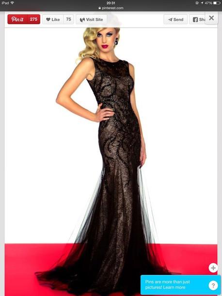dress black lace dress sequins hat