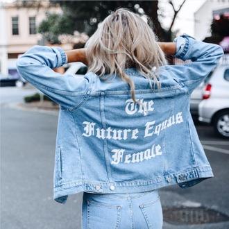 jacket na-kd 36683 denim jacket feminist streetstyle spring outfits