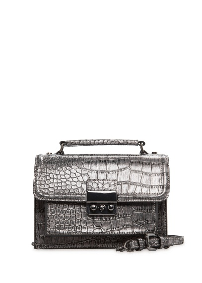 MANGO - NEW - Faux crocodileskin shoulder bag