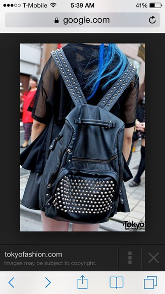 leather black bag leather bag black leather backpack studded bag