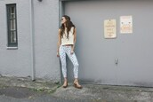 to bruck ave,blogger,jeans,top