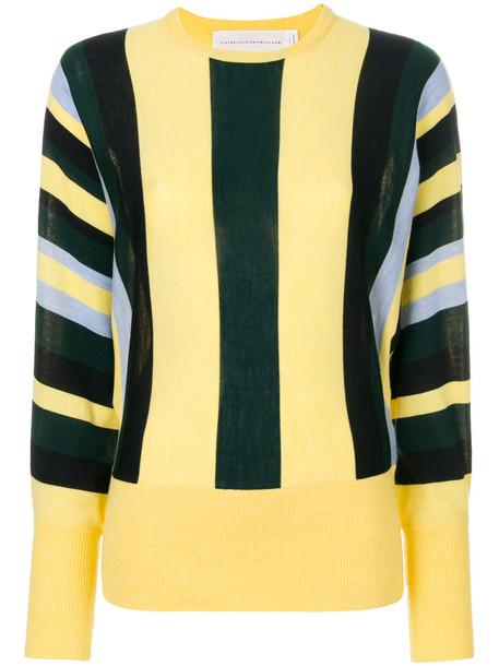 Victoria Victoria Beckham jumper women wool knit yellow orange sweater