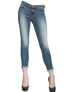 Skinny stretch capri denim jeans
