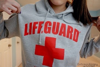 sweater lifeguard grey sweater
