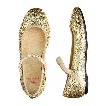 211021953 Girls' glitter ballet flats - flats & moccasins - Girl's shoes - J.Crew