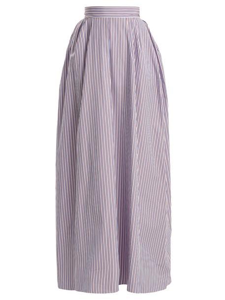 Rochas skirt maxi skirt maxi cotton blue