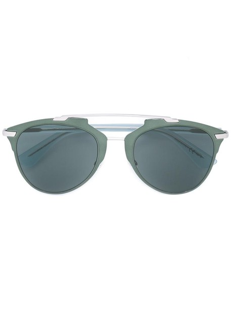 metal women sunglasses green