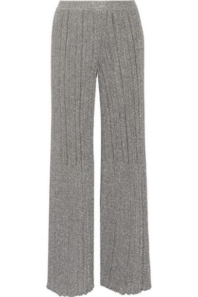 e087926e81d02 Missoni - Metallic Crochet-knit Wide-leg Pants - Silver - Wheretoget