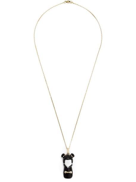 Kristin Hanson women necklace gold black jewels