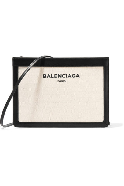 bag shoulder bag leather navy cream