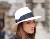 hat,felt hat,feodora,white hat