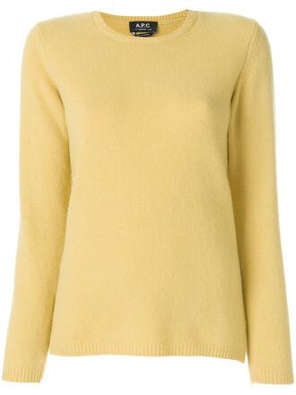 sweater women wool yellow orange