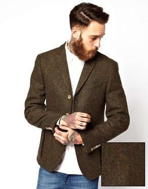 ASOS | ASOS Slim Fit Blazer in Harris Tweed at ASOS