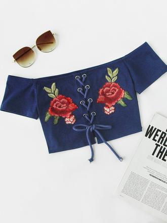 top cute floral girly crop tops