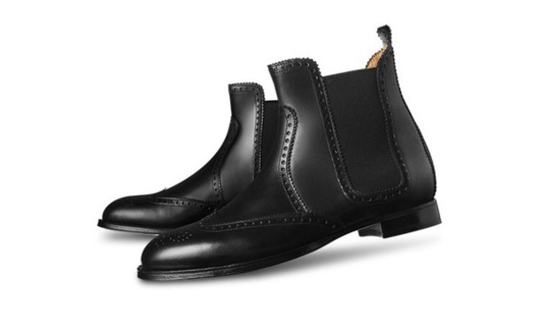shoes boots black leather