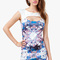 A'gaci mirror jewel print cut-out dress - clothing