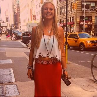 skirt orange skirt