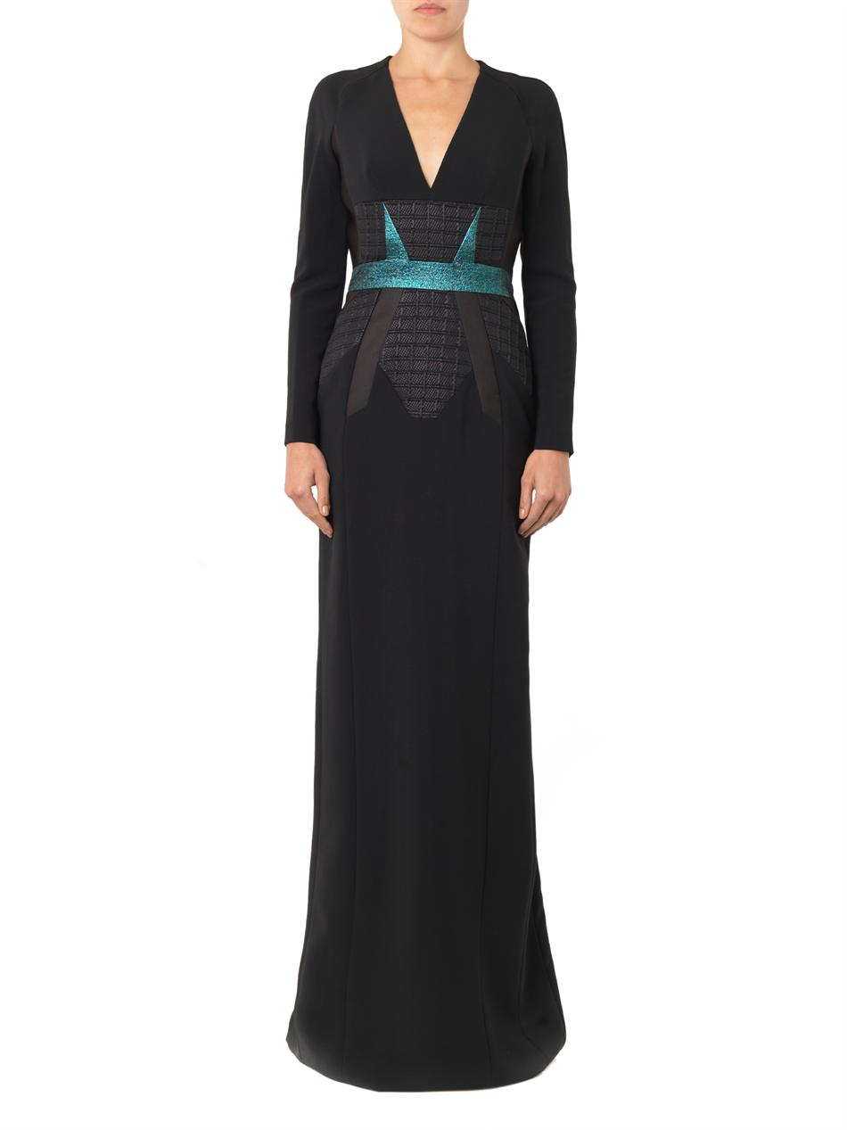 Jacquard-panel crepe gown | Antonio Berardi | MATCHESFASHION.COM