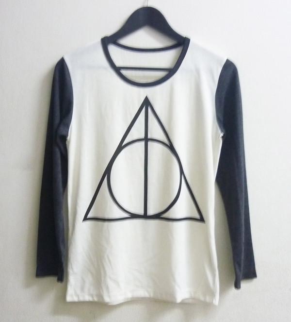 a4ff38242019 t-shirt off white t shirt long sleeved shirt crew neck t shirts triangle t