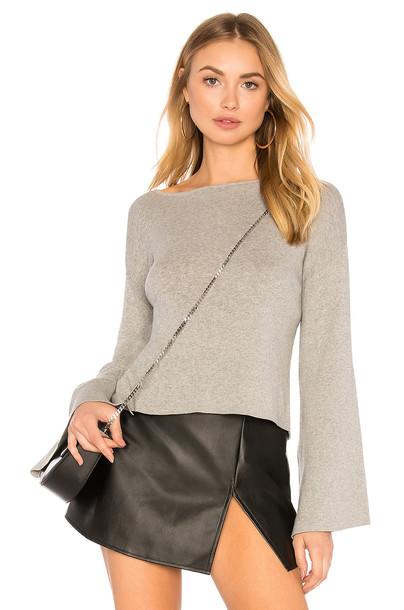 sweater cross back light grey heather grey