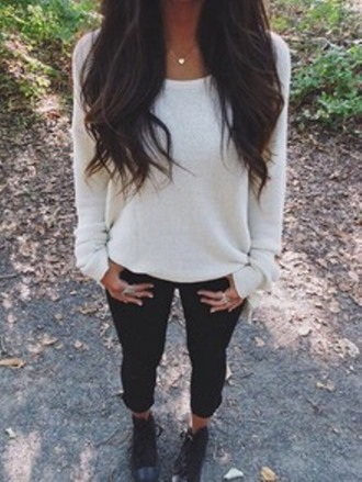 sweater girls sweater white white sweater