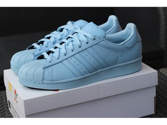 shoes clearsky blue adidas adidas superstars adidas supercolor