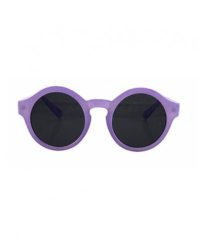 Vintage candy color round sunglasses