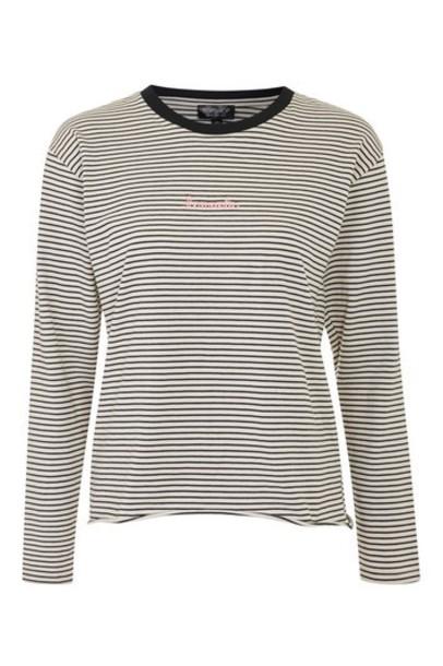 Topshop t-shirt shirt t-shirt romantic long monochrome top