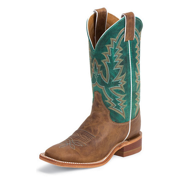 Justin Bent Rail Burnished Calf Cowgirl Boots Square Toe